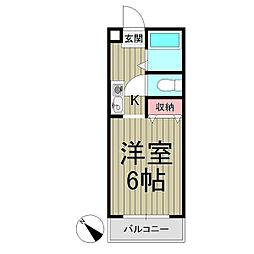 ジュネパレス鎌倉第7[104号室]の間取り