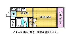 ハイネス江波--[303号室]の間取り