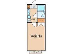 カーサ昭島[2階]の間取り