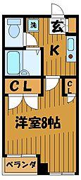 東京都国立市中の賃貸マンションの間取り