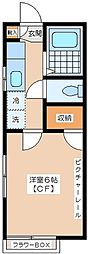 ボンエトワール[2階]の間取り