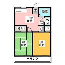 ハイムシノビII[1階]の間取り