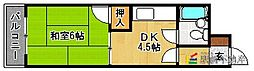 福岡県福岡市東区筥松2丁目の賃貸マンションの間取り