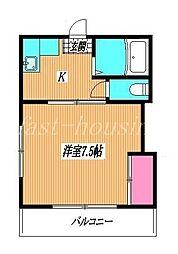 東京都練馬区関町北3丁目の賃貸マンションの間取り
