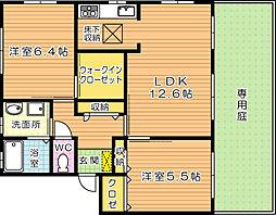 ボヌール茶屋の原 A棟[1階]の間取り