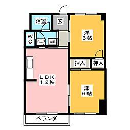 メゾンアルファ[4階]の間取り