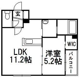 白石中央17[2階]の間取り