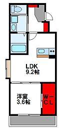 ラピスタ 4階1LDKの間取り