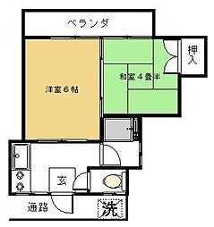 第2田中コーポ[2階]の間取り