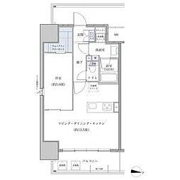 名鉄名古屋本線 山王駅 徒歩5分の賃貸マンション 2階1LDKの間取り