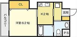 古船場タカヤコーポレーションビル[5階]の間取り