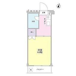 東京都板橋区幸町の賃貸マンションの間取り