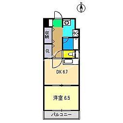 メゾンドフォンテヌ[1階]の間取り