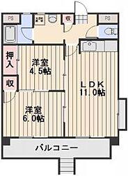 ラ・ジール東古松[1階]の間取り