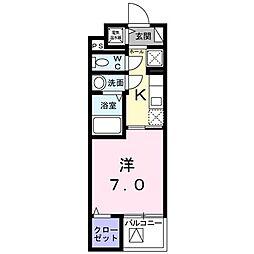 シェモワ八尾[3階]の間取り