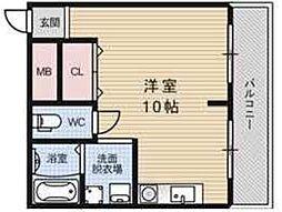 シティーパル姫島[303号室]の間取り