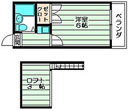 レクサス 松原1 吉田11分[2階]の間取り