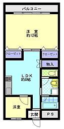 サンマンション羽村[2階]の間取り