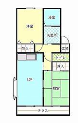 和歌山県和歌山市市小路の賃貸アパートの間取り
