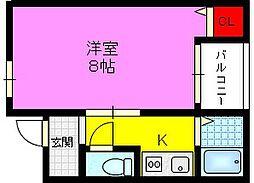 マンション・ジュネス[3階]の間取り