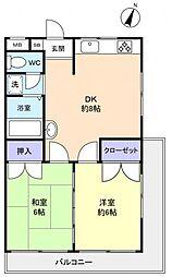 エステート薬円台[3階]の間取り