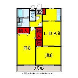 リビングタウン松ヶ島A・B[2階]の間取り