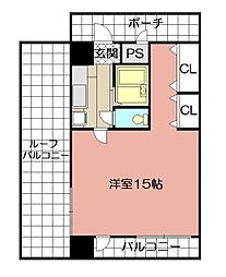 KMマンション八幡駅前III[1014号室]の間取り