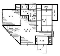 [一戸建] 神奈川県横浜市港北区日吉5丁目 の賃貸【/】の間取り