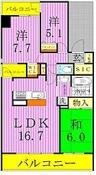 仮称)谷塚マンション[4階]の間取り