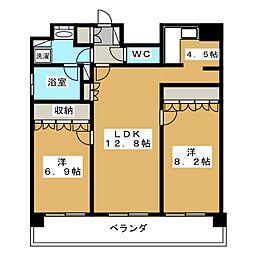 リーガル京都御所西II[4階]の間取り