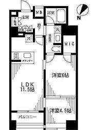 東京メトロ半蔵門線 水天宮前駅 徒歩12分の賃貸マンション 9階2LDKの間取り