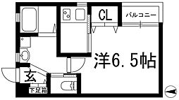 兵庫県川西市栄町の賃貸アパートの間取り