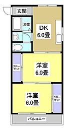 ビレッタ第二浜松807[807号室]の間取り