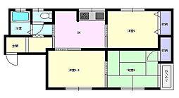 コーポ花房[1-2号室]の間取り
