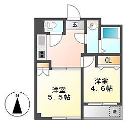 吉川屋ビル[5階]の間取り