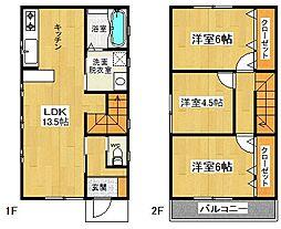 [一戸建] 神奈川県大和市桜森2丁目 の賃貸【/】の間取り