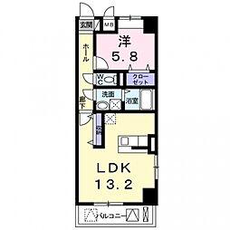 西田中町店舗付マンション[4階]の間取り