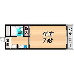 Osaka Metro今里筋線 新森古市駅 徒歩6分の賃貸マンション 4階1Kの間取り