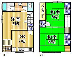 [一戸建] 大阪府大阪市此花区西九条1丁目 の賃貸【/】の間取り