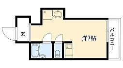 新甲子園マンション[414号室]の間取り