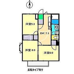ハッピーライフ(一宮徳谷)[2階]の間取り