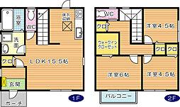 グラジオ八幡[2階]の間取り