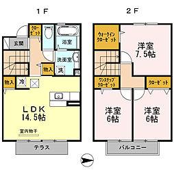 ブリオーソ東高松2[102号室]の間取り