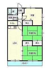 メゾンSAIKA[6階]の間取り