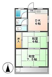 東和コーポ[1階]の間取り