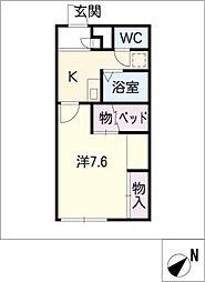 レオパレスSATOUII[2階]の間取り