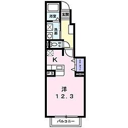 大阪府茨木市蔵垣内2丁目の賃貸アパートの間取り