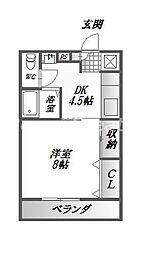 レジデンスイマイ[1階]の間取り