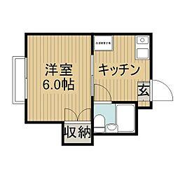 パークハイツ桜木[1階]の間取り