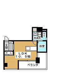 oz alloggio[5階]の間取り
